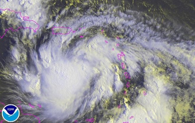 Foto divulgada por departamento americano de climatologia mostra a evolução da tempestade Isaac | Reuters/NOAA/Divulgação