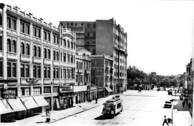 Avenida João Pessoa em 1931. No ano anterior foi retirado o nome de Luiz Xavier por um puxa-saco da Revolução de 1930, nome que só voltou em 1965 | Arquivo CD
