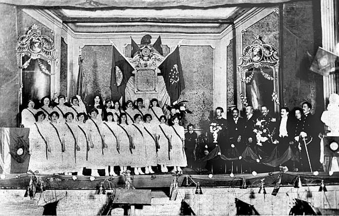 Solenidade no Theatro Guayra no dia 7 de Setembro de 1912 | Acervo Cid Destefani