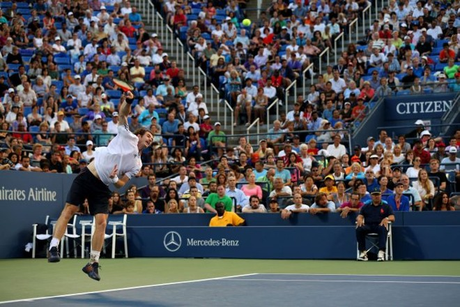 Andy Murray se tornou o primeiro semifinalista do US Open 2012 | Clive Brunskill / AFP