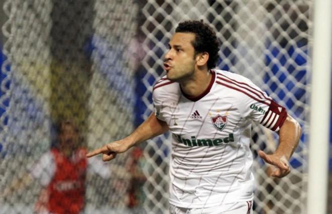 Fred comemora o gol que decidiu o clássico carioca no Engenhão | Ricardo Ayres / Photocamera