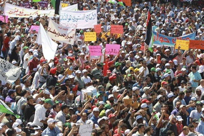 Protesto foi organizado pela Irmandade Muçulmana   Muhammad Hamed/Reuters