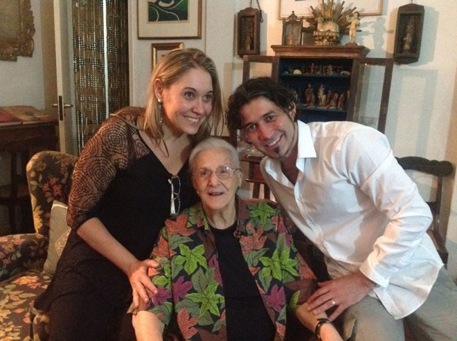 Liana Leão, com Bárbara Heliodora e Mauro Maya: parceria | Arquivo pessoal