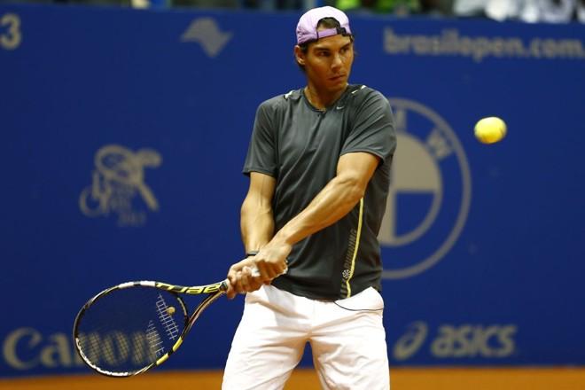 Nadal defendeu quadra do Brasil Open, mas disparou contra a bola escolhida pela ATP | Divulgação/Inovafoto