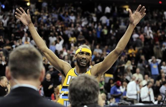 Corey Brewer foi o herói da 15.ª vitória seguida do Denver Nuggets na NBA | Mark Leffingwell / Reuters