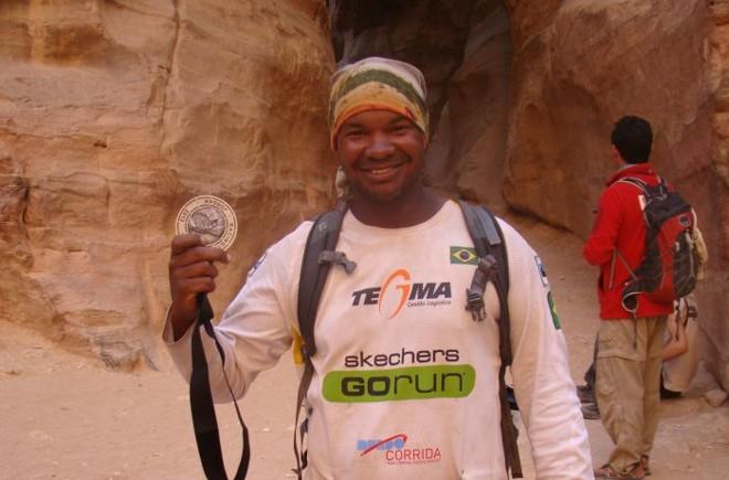 Carlos Dias na sua participação na ultramaratona de 250 km. na Jordania em 2012 | Divulgação