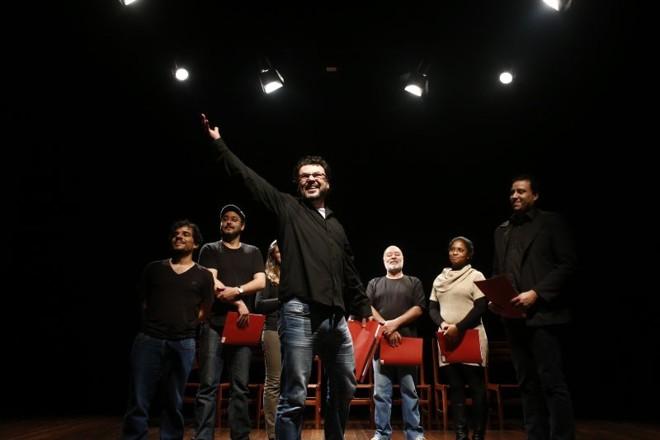 Leitura de A Comédia da Panela, de Tito Plauto, com a Companhia Arte da Comédia, de São José dos Pinhais | Luis Fernando Frandoloso/Divulgação