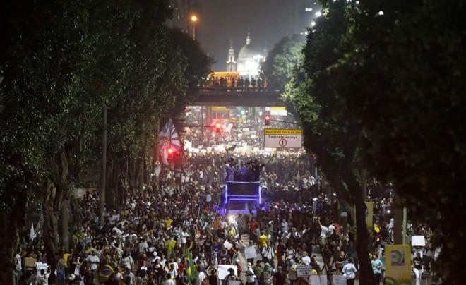 Protesto no Rio de Janeiro |