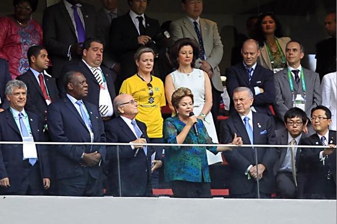 Dilma foi vaiada na abertura da Copa das Confederações, em Brasília | Albari Rosa/Gazeta do Povo