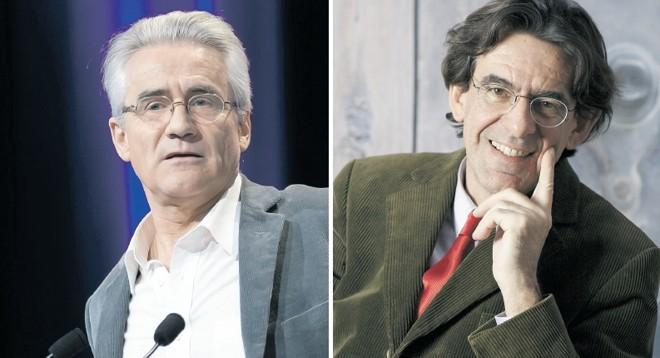 André Comte-Sponville e Luc Ferry   Fotos: Creative Commons; Divulgação/Salamundo