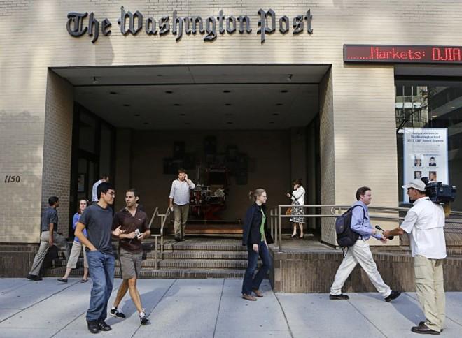 Sede do Washington Post: mudança na administração simboliza os desafios sem precedentes enfrentados pelos jornais | Stelios Varias/Reuters
