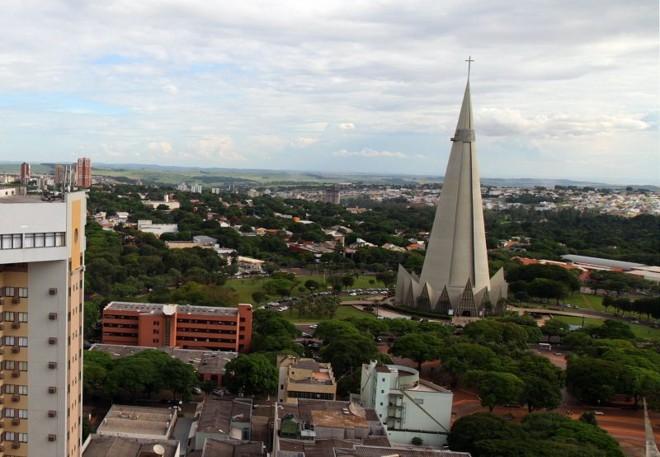 Vista de Maringá: a gestão fiscal da cidade foi considerada pela Firjan como a melhor do Paraná e a 12ª mais eficiente dentre 5,5 mil municípios brasileiros | Daniel Castellano/ Gazeta do Povo