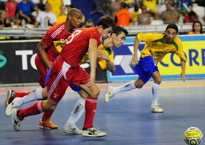 seleção brasileira é a maior campeã do torneio, tendo conquistado seis troféus em sete edições   Divulgação / Cristiano Borges / CBFS