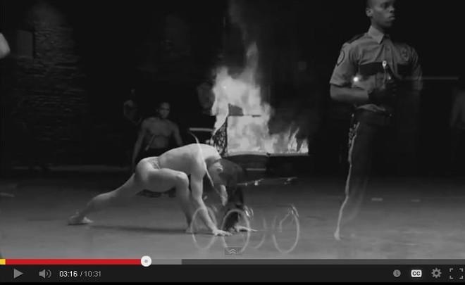 Trecho do vídeo de Madonna, que tem dança contemporânea   Reprodução