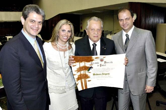 Silvio Barro, Cida Borghetti e Ricardo Barros (à direita): estratégia conjunta para 2014 | Jorge Eder/AEn