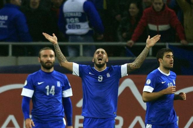 Mitroglou marcou o gol da classificação grega para a Copa | Reuters