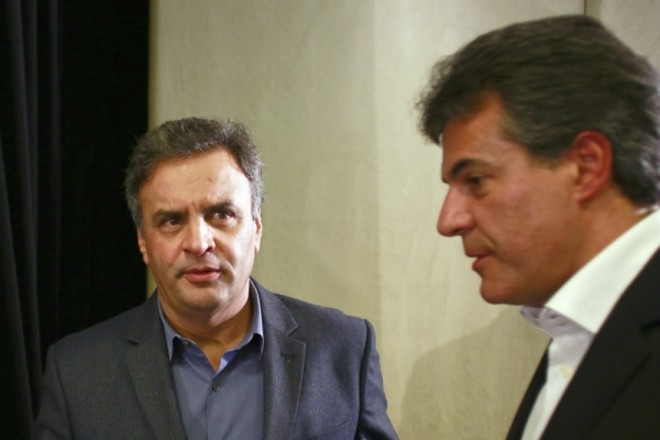 Aécio Neves, candidato a presidência e Beto Richa, Governador do Paraná | Marcelo Andrade/ Gazeta do Povo
