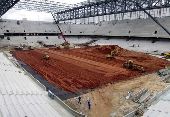 Arena da Baixada está sendo preparada para a Copa do Mundo, mas pode ficar sem receber a torcida rubro-negra em 2014 | Gary Hershorn / Reuters