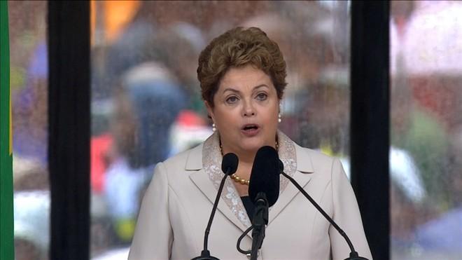 Dilma Rousseff discursa em homenagem a Nelson Mandela | Reuters/SABC via Reuters TV
