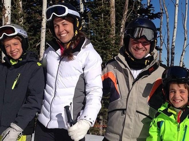 Foto postada por Barrichello na pista de esqui de Park City, em Utah, nos Estados Unidos | Reprodução Instagram