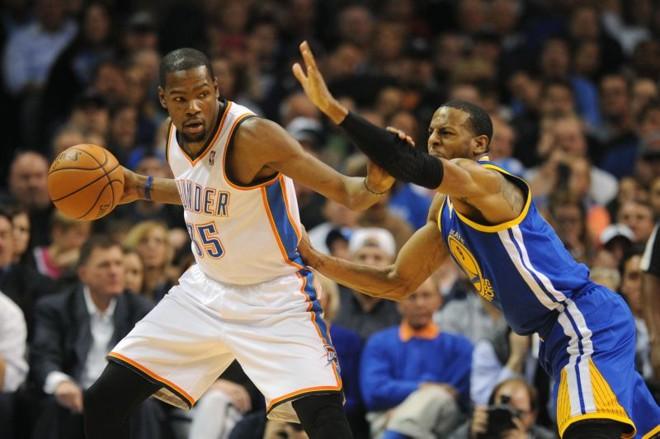 Kevin Durant foi o grande destaque da partida para o Thunder | Mark D. Smith/USA Today