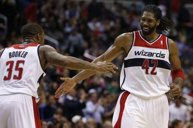 cfaf4cdcc6 Nenê teve grande atuação na vitória do Wizards contra o Miami Heat   Geoff  Burke-