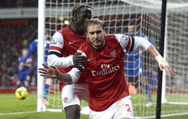 Bendtner tirou o Arsenal do sufoco e abriu o placar contra o Cardiff City | Reuters