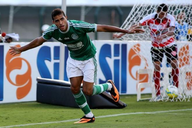 Alan Kardec fez o gol da vitória do Palmeiras na estreia no Paulista | Luis Moura / Folhapress