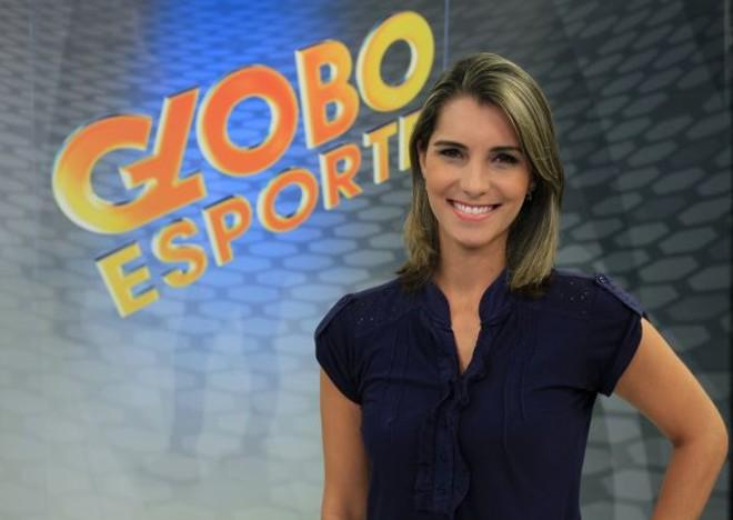 Em homenagem ao Dia Internacional da Mulher, a repórter Janaína Castilho, da RPC TV, vai apresentar hoje o Globo Esporte Paraná | Rubens Vandresen/RPC TV