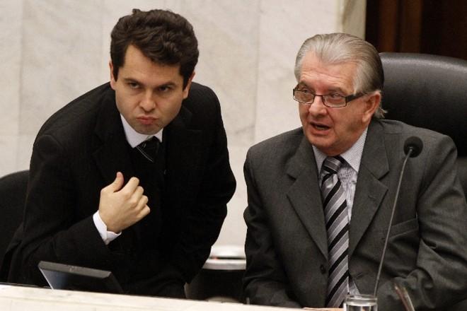 Alexandre Curi e Nelson Justus: inquérito contra os deputados está sendo conduzido pelo gabinete do procurador-geral de Justiça   Daniel Derevecki/Arquivo/ Gazeta do Povo