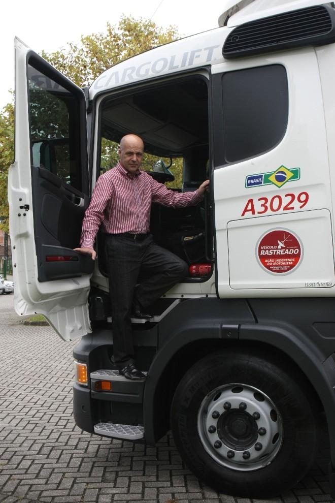 Markenson Marques, presidente da Cargolift: baixa produtividade pressiona custo do frete   Aniele Nascimento/ Gazeta do Povo