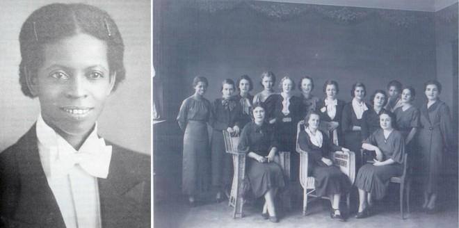 Enedina (à esquerda) com as professoras do Grupo  Barão de Antonina, em Rio Negro (PR), na década de 1930, quando lecionava   Acervo/ Maria da Glória Foohs