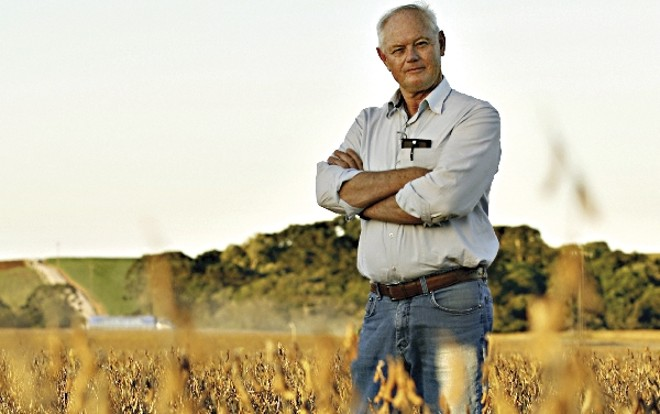 Há quatro décadas na soja, o produtor Jan Haasjes cultiva atualmente área sete vezes maior nos Campos Gerais   Josua© Teixeira/ Gazeta Do Povo