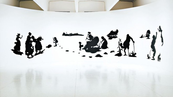"Obras de Kara Walker: ""O Fim do Tio Tom e o Grandioso Painel Alegórico de Eva no Paraíso"" 