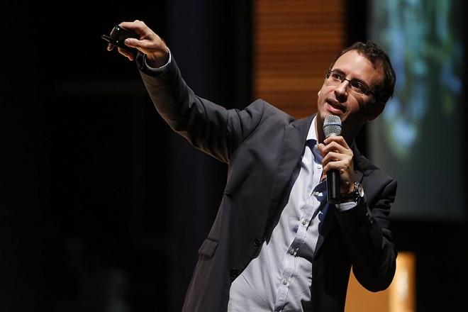 Pablo Hundi falou sobre espaços de inovação e empreendedorismo durante a Conferência Internacional de Cidades Inovadoras | Henry Milléo / Agência de Notícias Gazeta do Povo