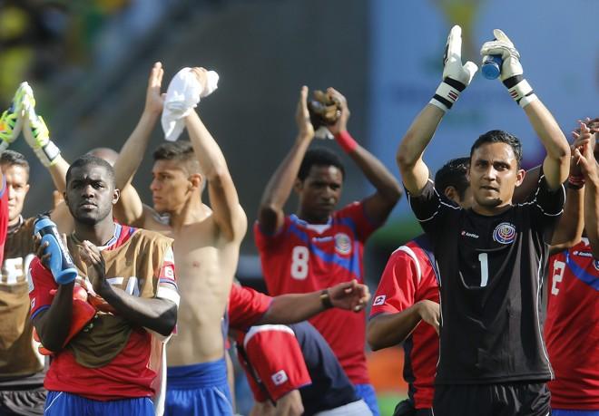 Jogadores da Costa Rica após o jogo com a Inglaterra | Felipe Trueba/EFE