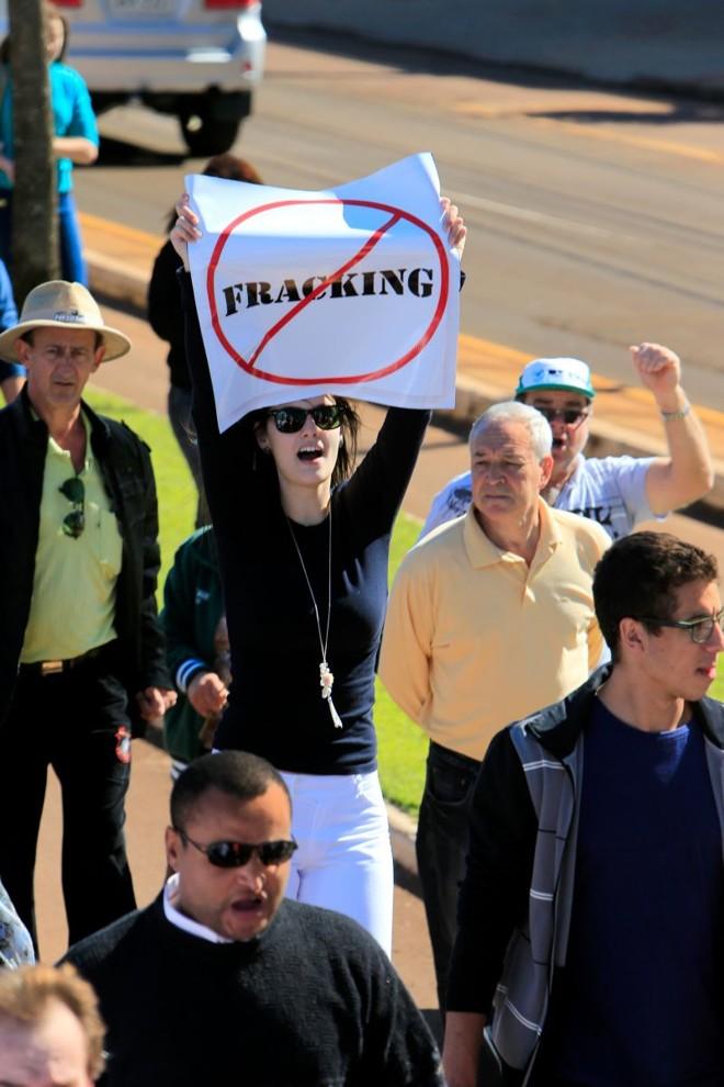 População da Região Oeste protesta contra uso do fracking | César Machado/ Gazeta do Povo
