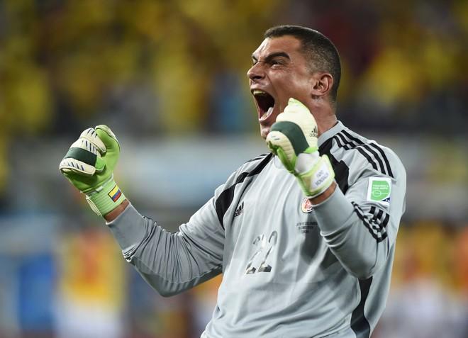 Mondragon comemora a vitória da Colômbia sobre o Japão | Dylan Martinez/Reuters