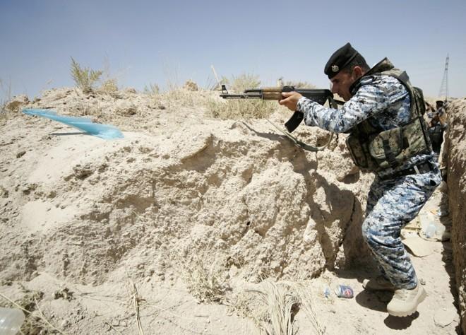 Soldado das forças iraquianas atua no combate aos insurgentes | Reuters/Mushtaq Muhammed