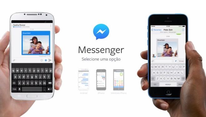 O app de mensagens do Facebook é utilizado por cerca de 200 milhões de pessoas no mundo todo | Reprodução.