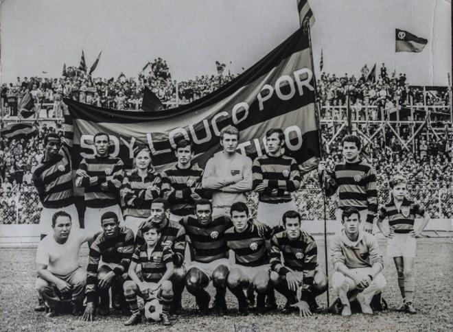 Outra foto do Atlético de 1968. Campeonato viria em 1970, mas time entrou para a história. Com ele, o craque Amauri.