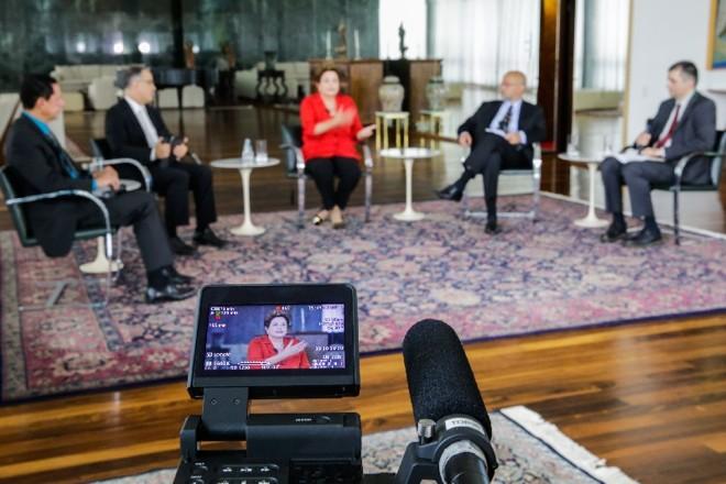 A presidente Dilma Rousseff foi sabatinada ontem por jornalistas | Ichiro Guerra/ Sala de Imprensa
