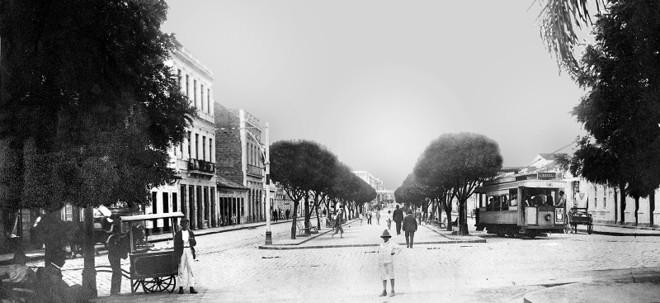 Avenida Luiz Xavier foi servida pelo transporte com bondes entre 1913 e 1939 |
