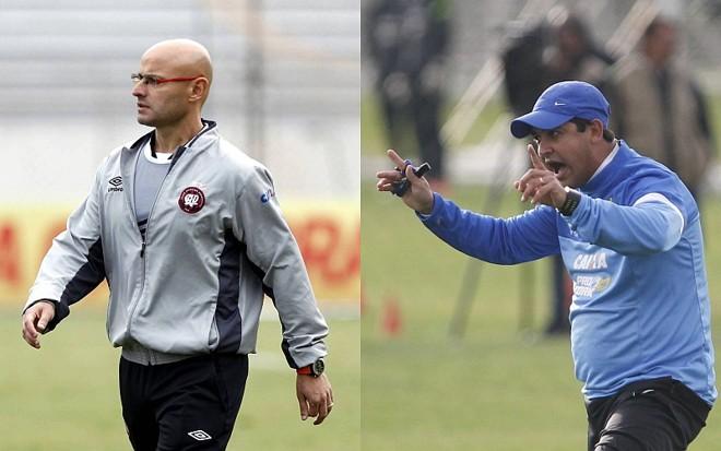 Atleticanos e coxas-brancas apoiam Leandro Ávila e Marquinhos Santos no comando de suas equipes | Daniel Castellano / Gazeta do Povo