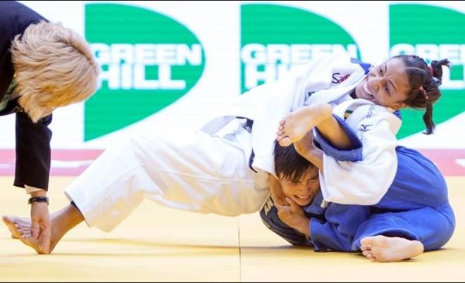 Érika Miranda vence Yanet Bermoy na decisão do bronze do Mundial de Judô | Divulgação Confederação Brasileira de Judô