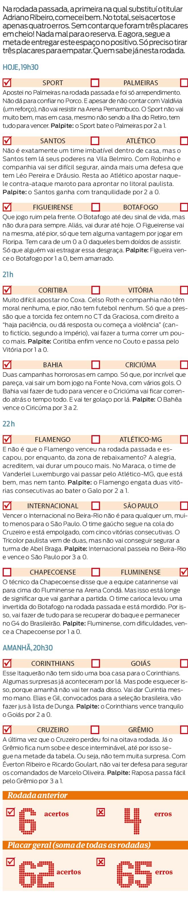 Confira Os Palpites Para Os Jogos Da 16ª Rodada Do Brasileiro