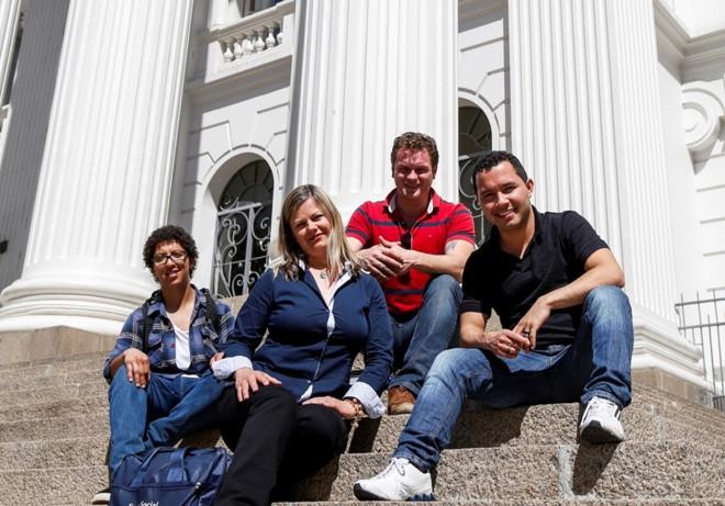 Bianca Zanetti, Celia Regina Piontkievicz, Rafael Fernando Zilli e Rudá Morais Gandin fazem parte do grupo de universitários candidatos. | Henry Milleo / Gazeta do Povo