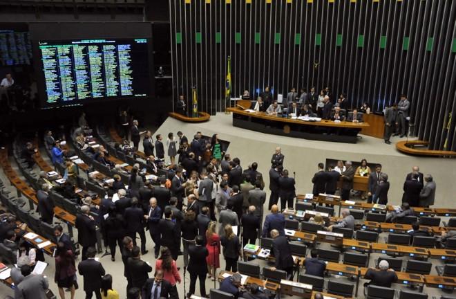 Plenário da Câmara: governo precisa reconstruir sua base.   Luis Macedo/ Câmara dos Deputados