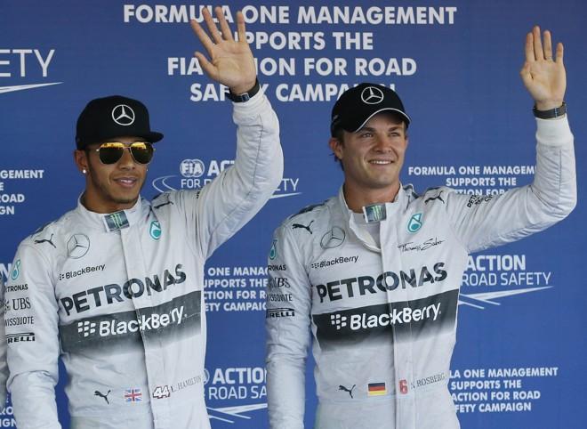 Concorrente de Hamilton na luta pelo título mundial, Rosberg não conseguiu acompanhar o ritmo do seu companheiro de Mercedes e precisou se contentar com a segunda posição no grid | REUTERS/Maxim Shemetov