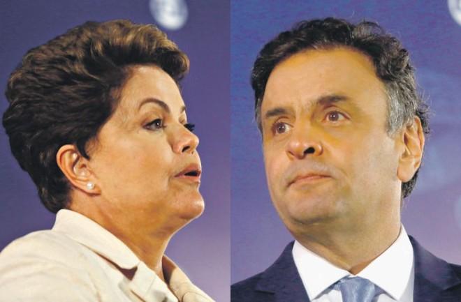 Aécio passa Dilma na corrida presidencial, aponta Paraná Pesquisas | Adriana Spaca/Folhapress